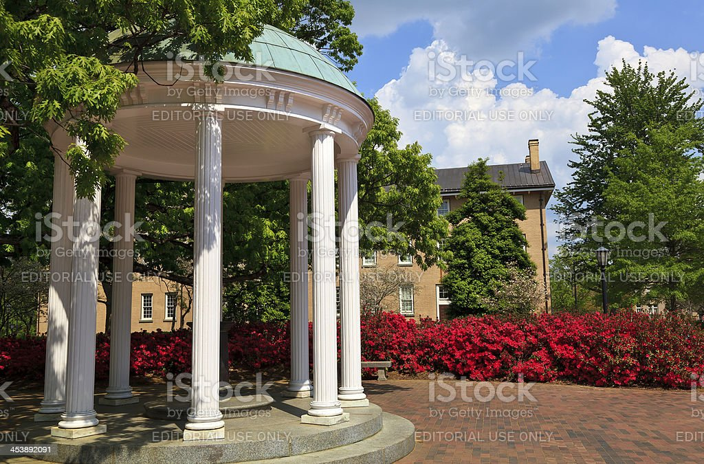 Old Well at Chapel Hill in the Spring stock photo