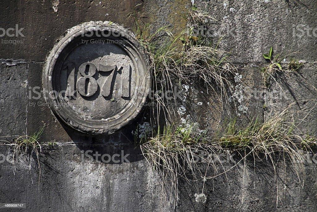 Old Weser lock in Hameln stock photo