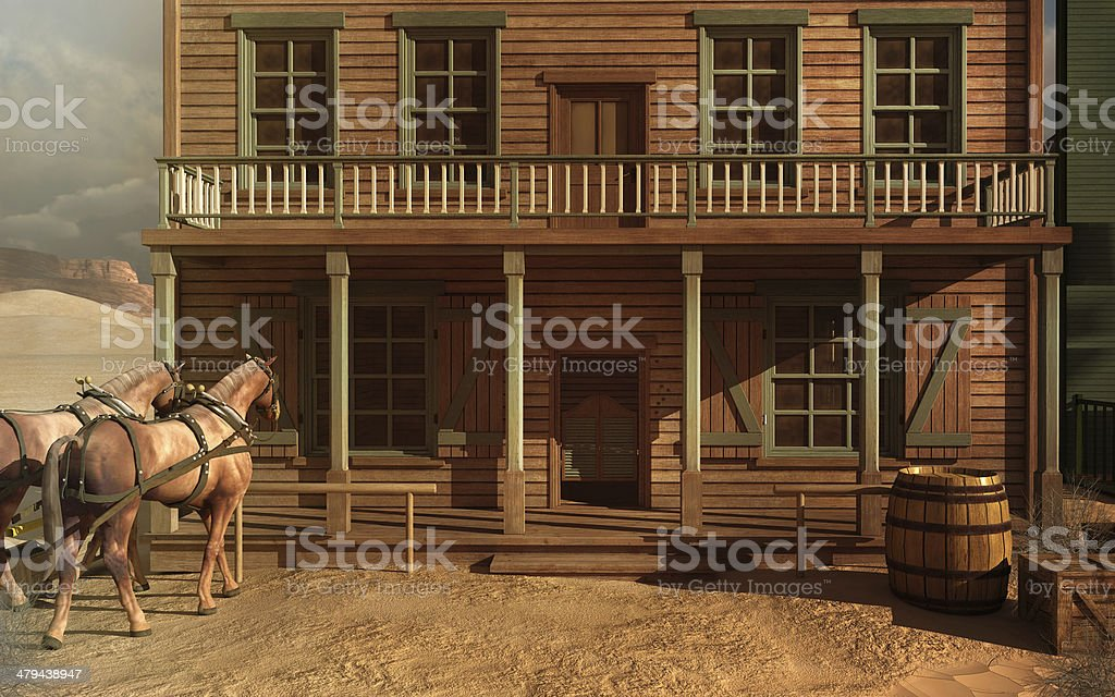 Old West building stock photo