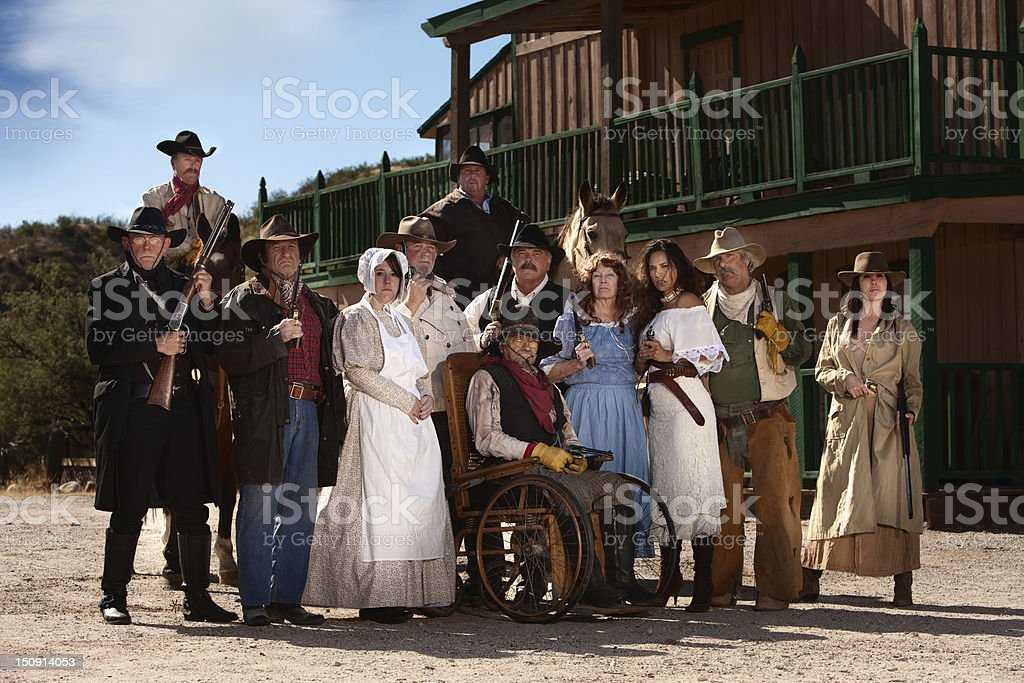 Old West Characters stock photo