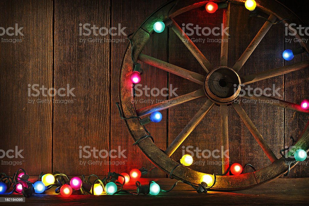 Old West Christmas stock photo