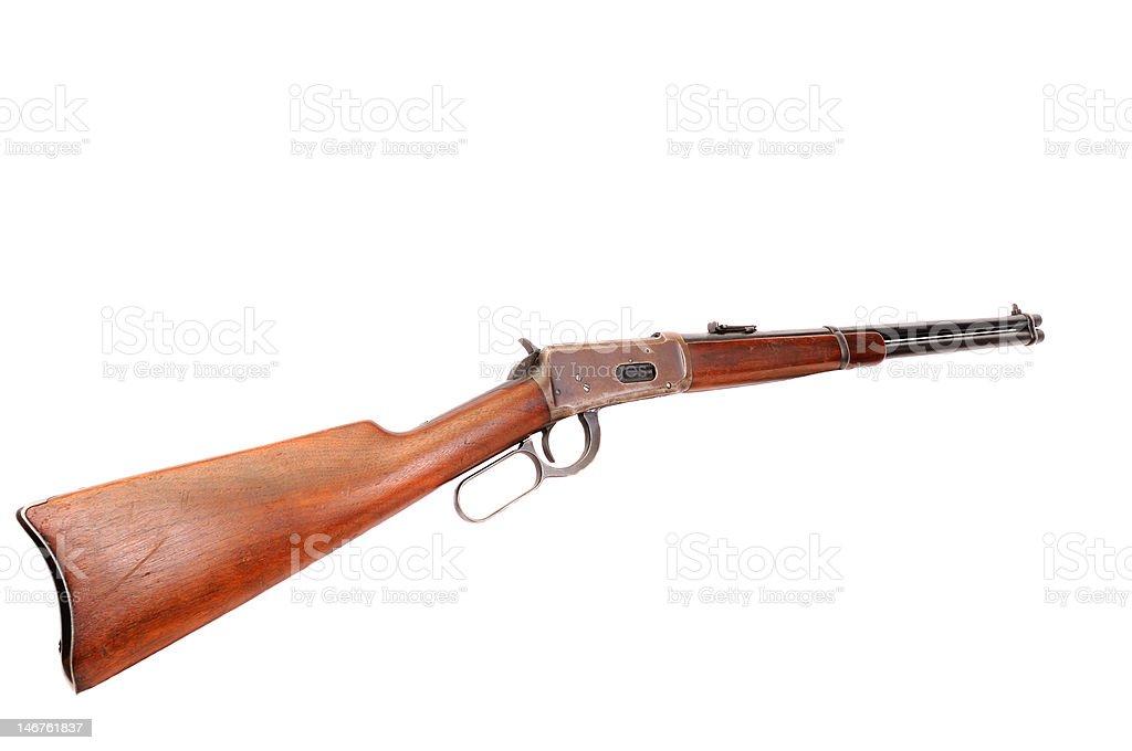 Velho oeste de Cowboy Rifle foto royalty-free