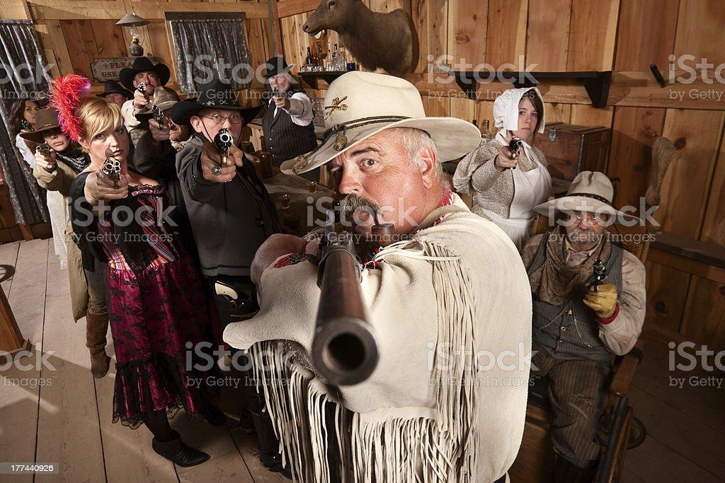 Old West Desperado stock photo