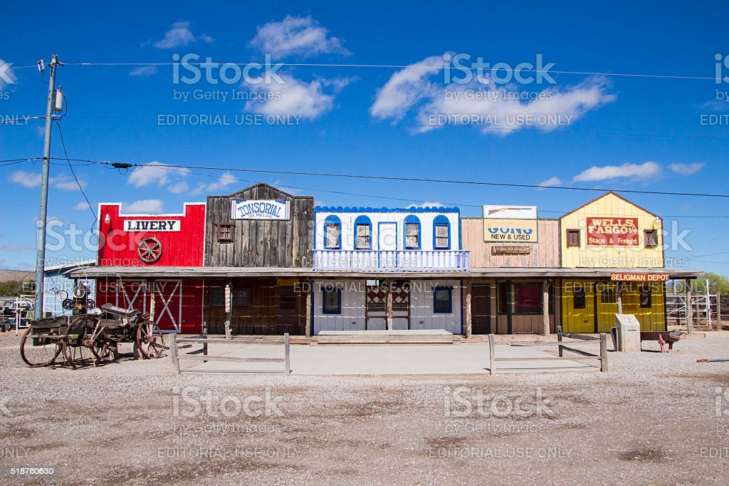 Old West Display - Seligman stock photo