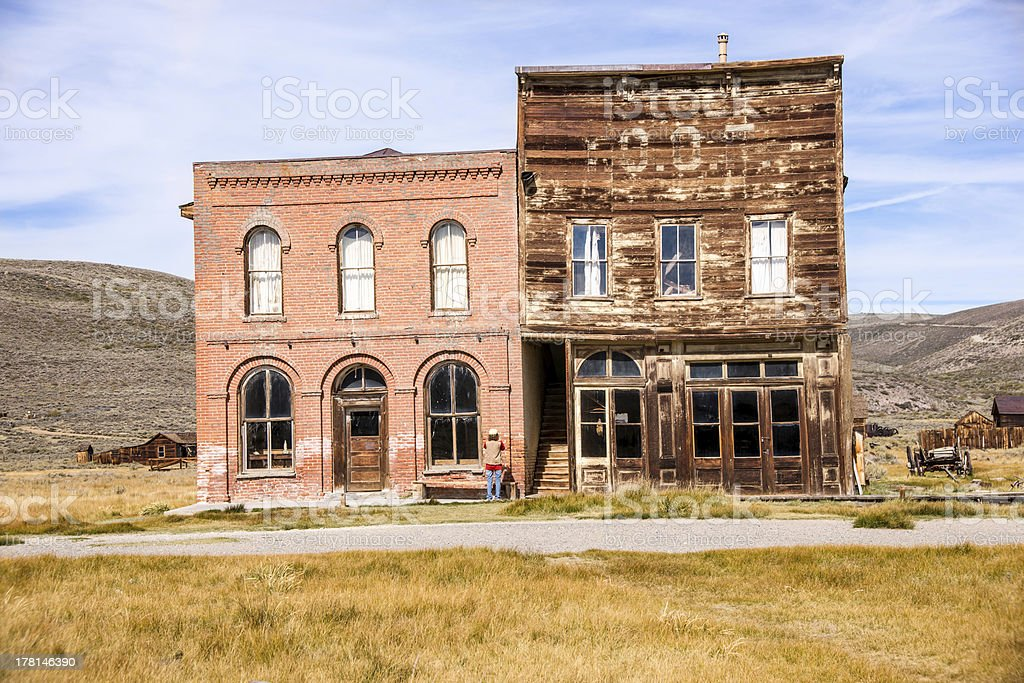 Old West Ghost Town royalty-free stock photo