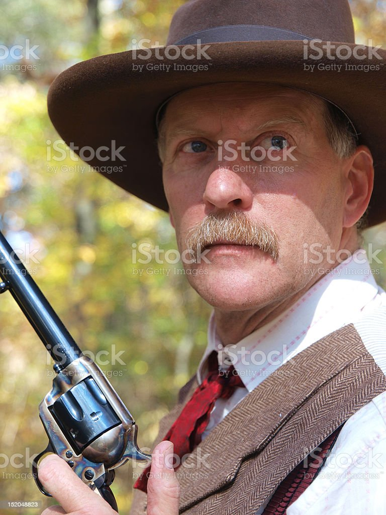 Old West Gunman stock photo