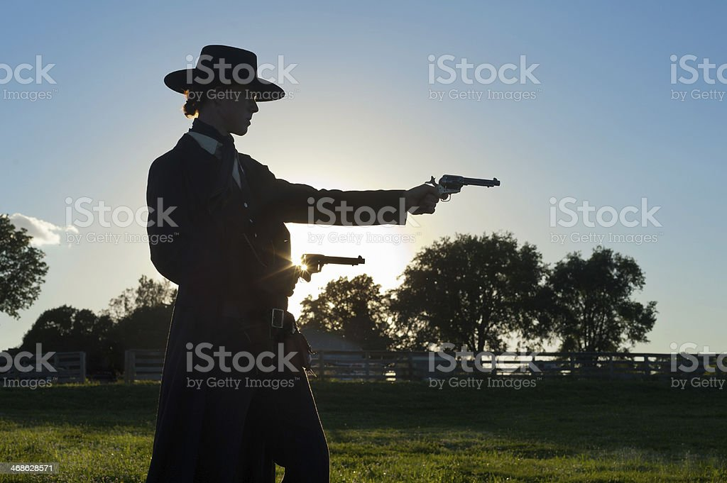 Old West Homeland Security stock photo