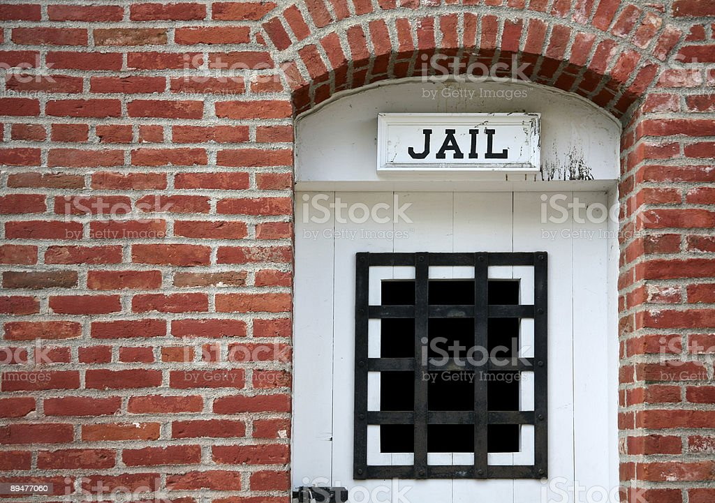 Old West Jail stock photo
