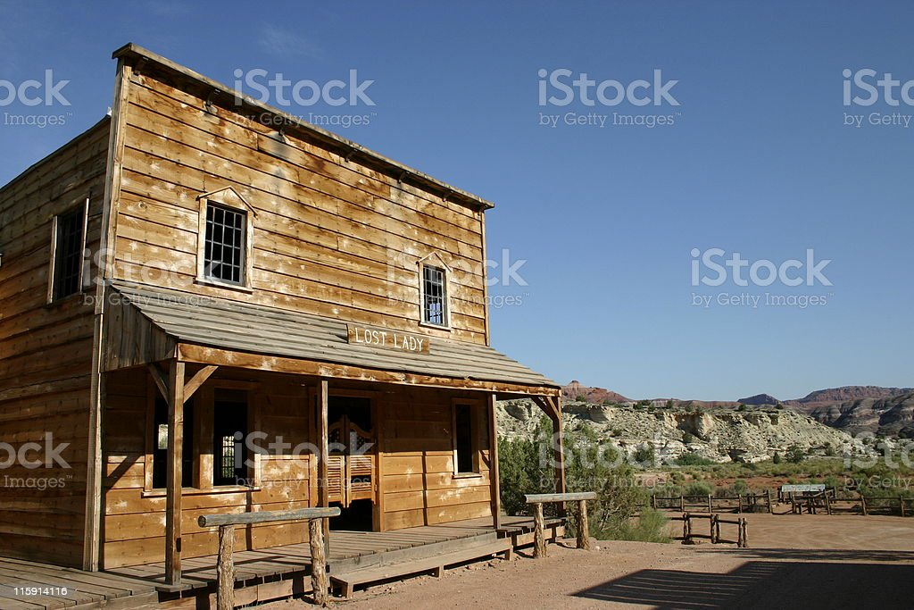 Old West Saloon stock photo