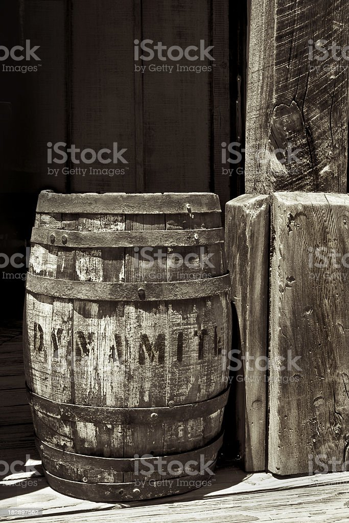 Old West Series - Barrel of Dynamite. stock photo
