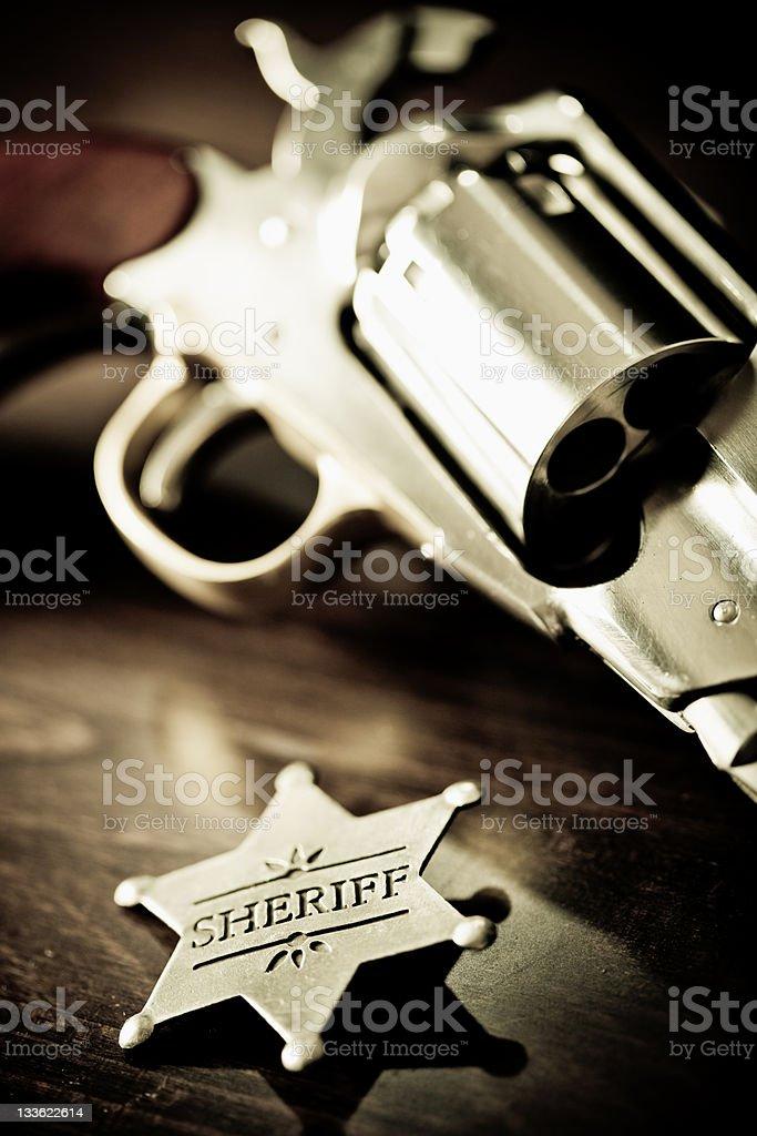 Old West Sheriff Badge royalty-free stock photo
