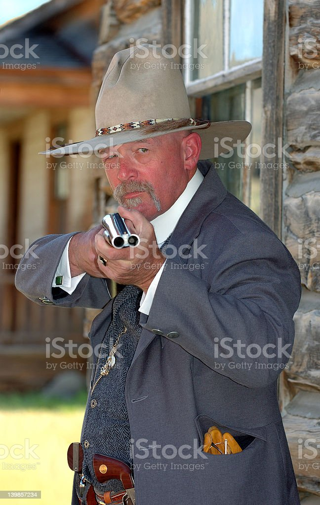 Old West Sheriff stock photo