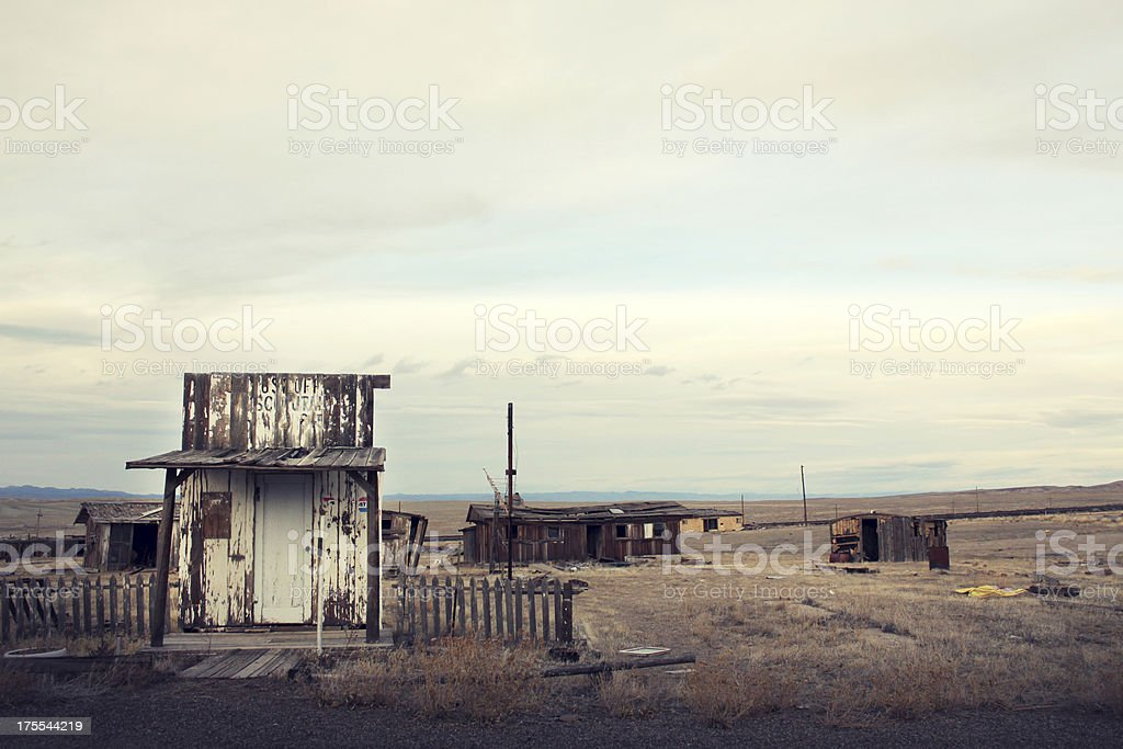 Old West Town in Ruin royalty-free stock photo