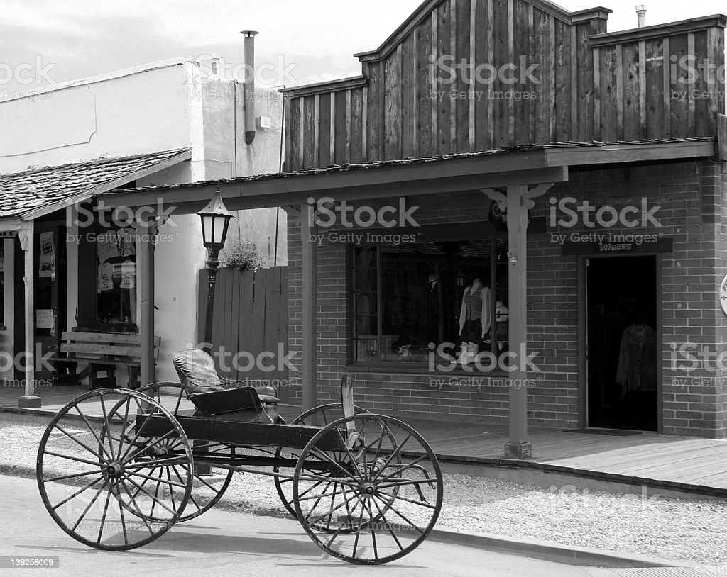 Old West Wagon -b&w royalty-free stock photo