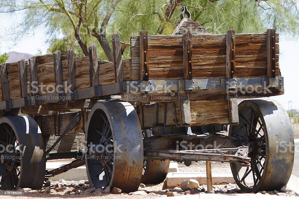 Old Western Coach stock photo