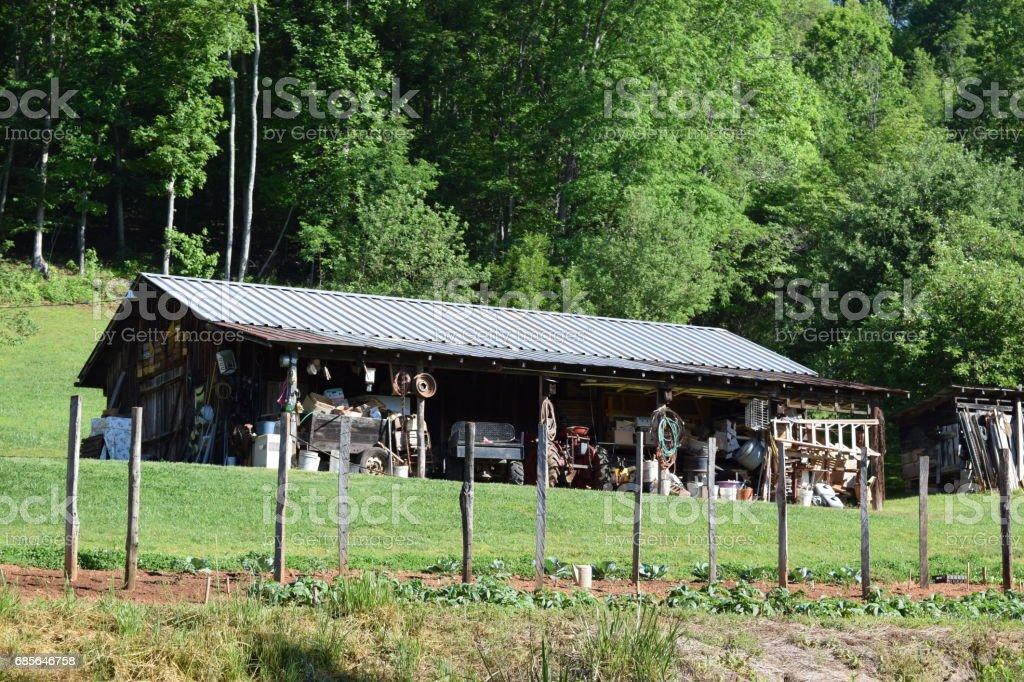 Old western NC barn stock photo