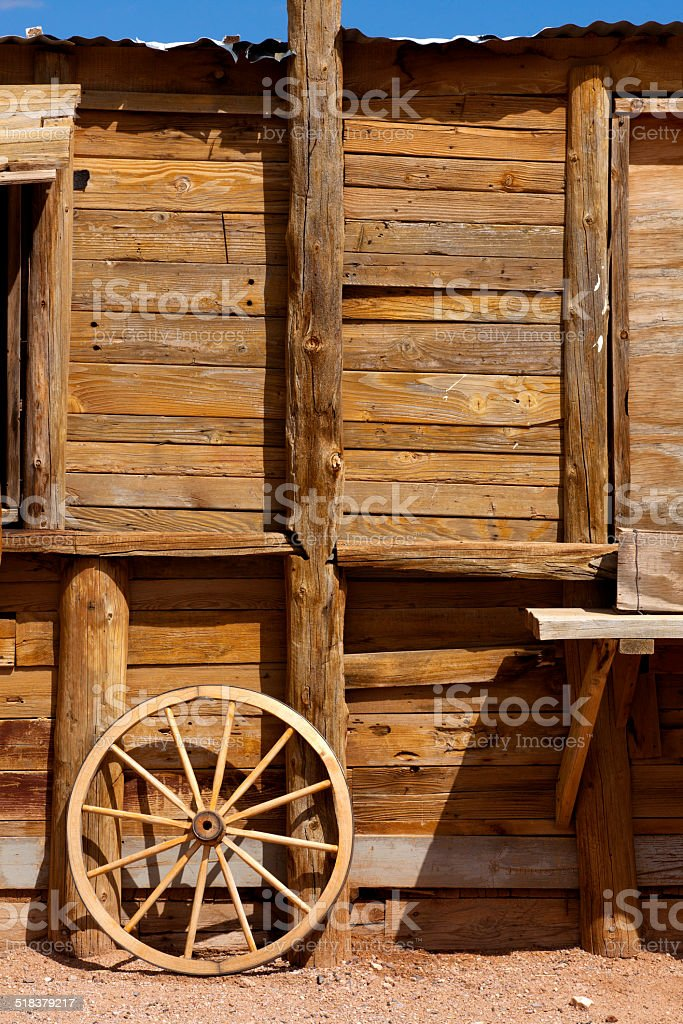Old western theme scene stock photo