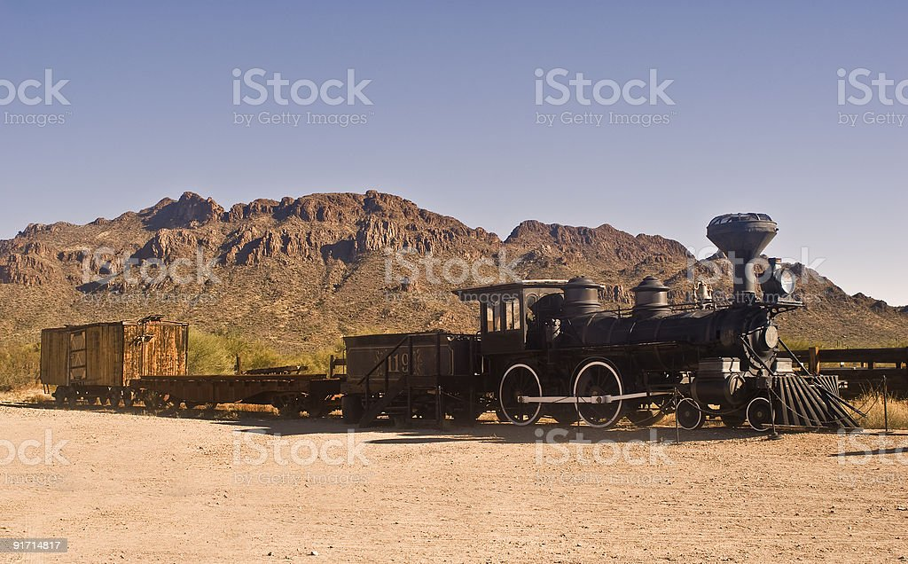 Old Western Train royalty-free stock photo