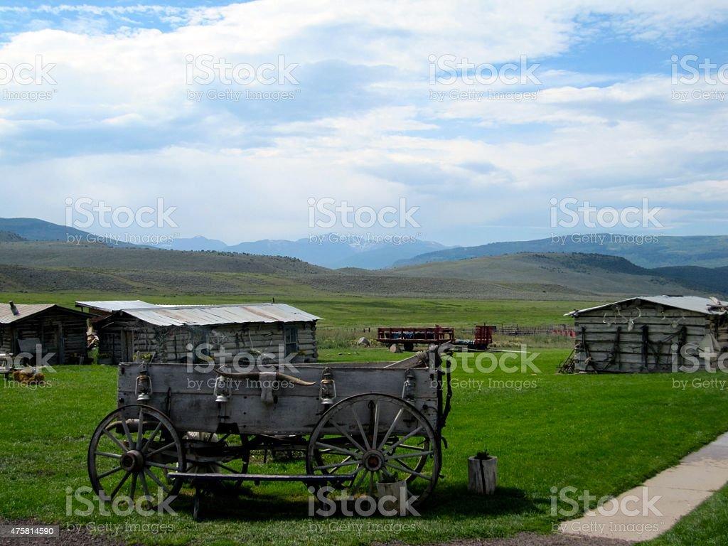 Old Western Wagon stock photo