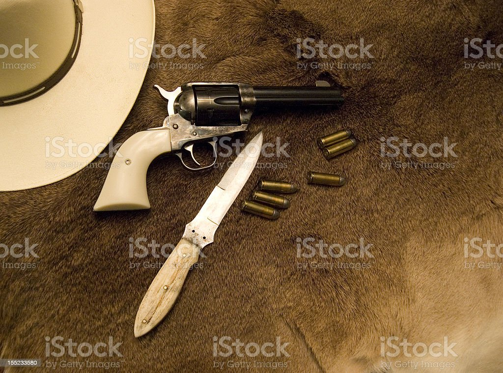 Old Western Weapons royalty-free stock photo