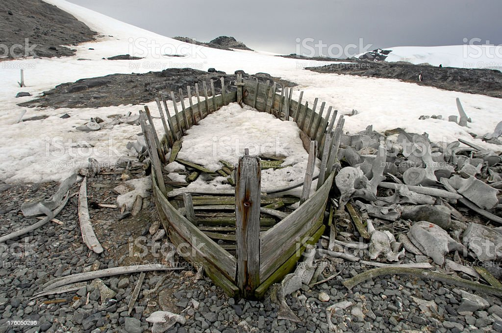 Old Whaling boat stock photo