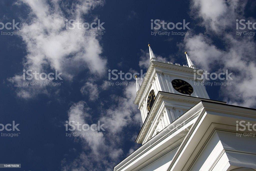 Old Whaling Church - Edgartown stock photo