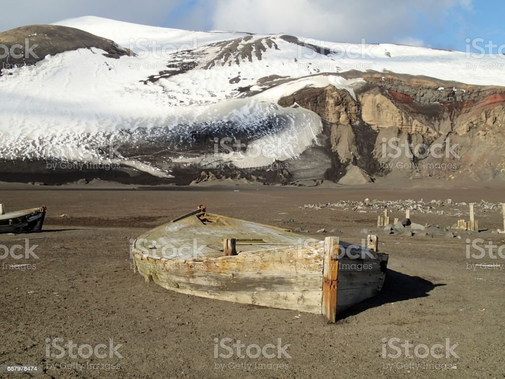 Old Whaling station stock photo