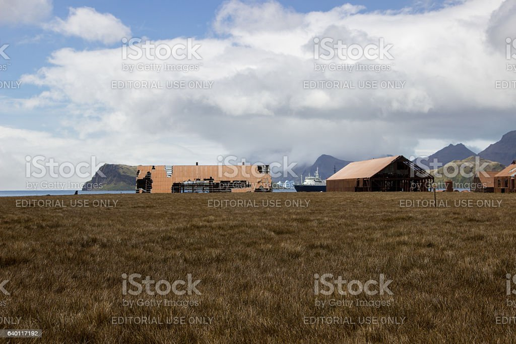 Old whaling station, South Georgia stock photo
