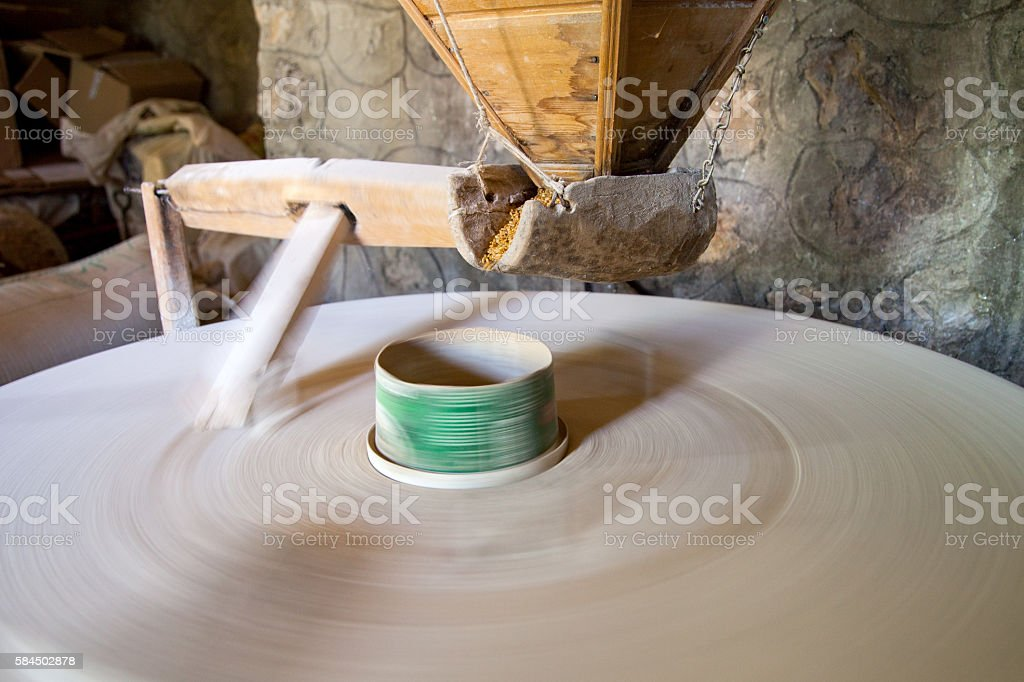 Old Wheat Mill stock photo