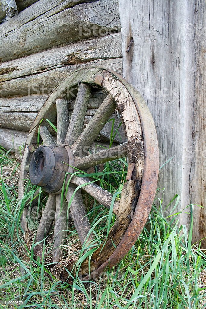 Old wheel. royalty-free stock photo