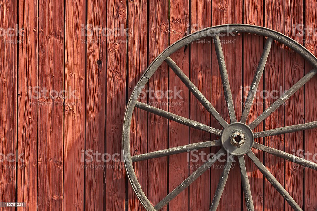 Old wheel royalty-free stock photo