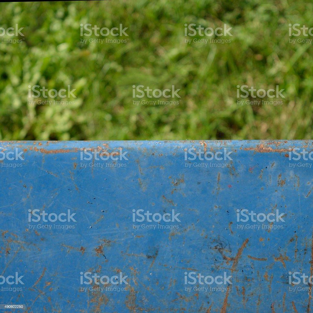 Old Wheelbarrow and Grass stock photo