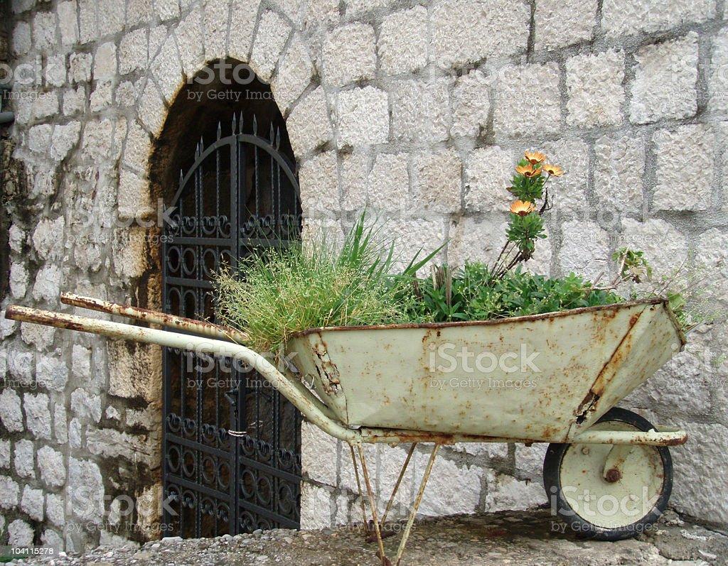 Old Wheelbarrow royalty-free stock photo