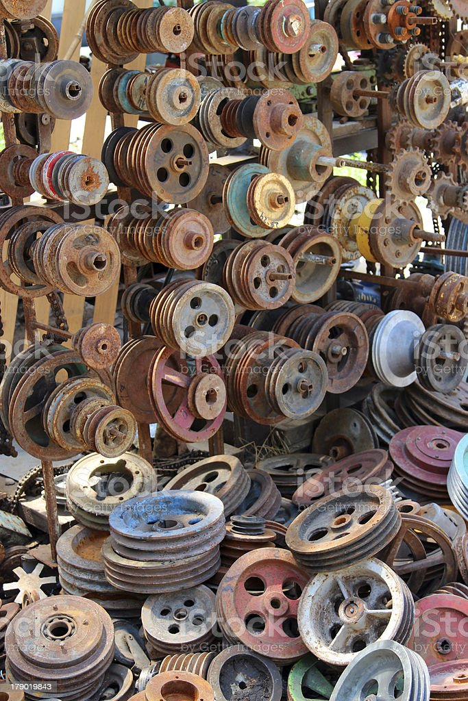 old wheels and parts royalty-free stock photo