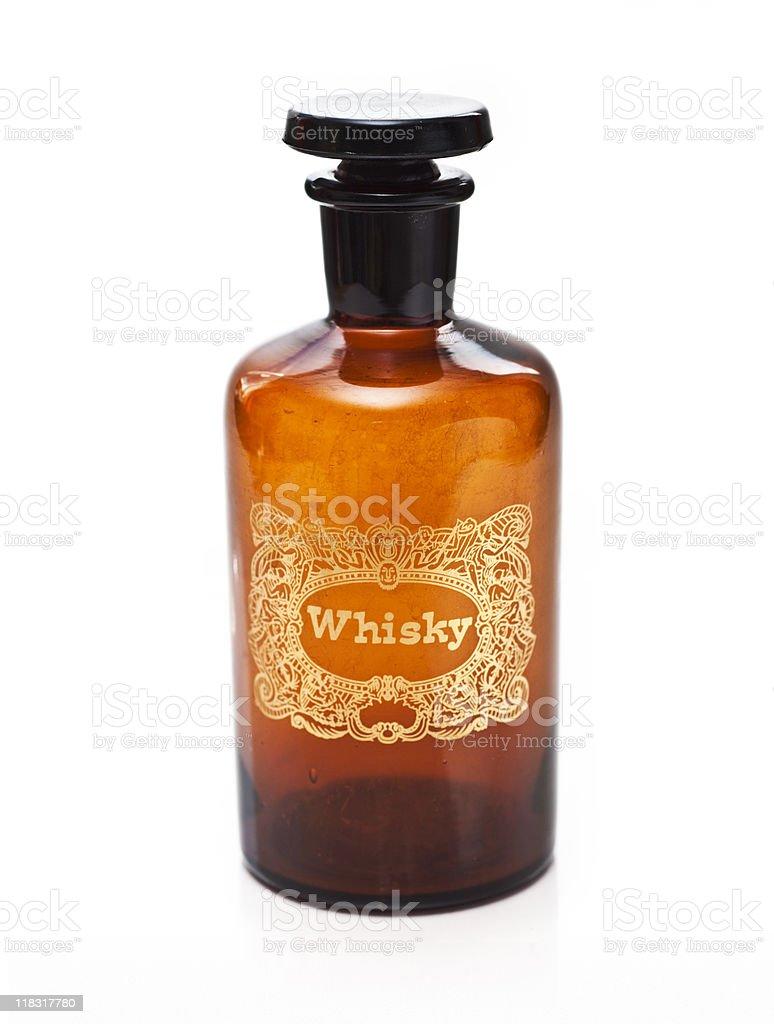 Old Whisky Bottle royalty-free stock photo