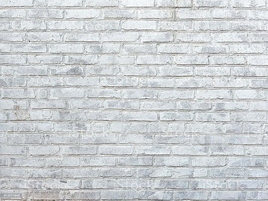 old white brick wall as background stock photo