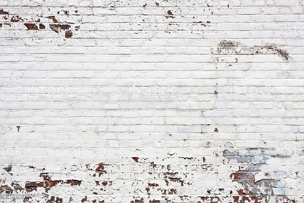 Old White Brick Wall Background stock photo