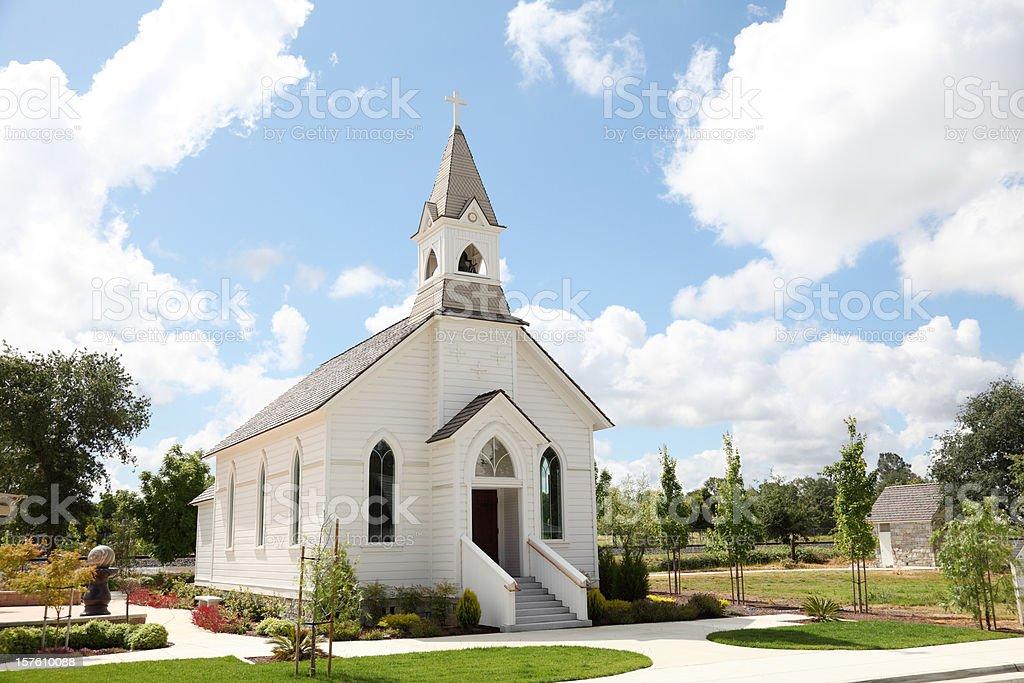 Old White Church stock photo