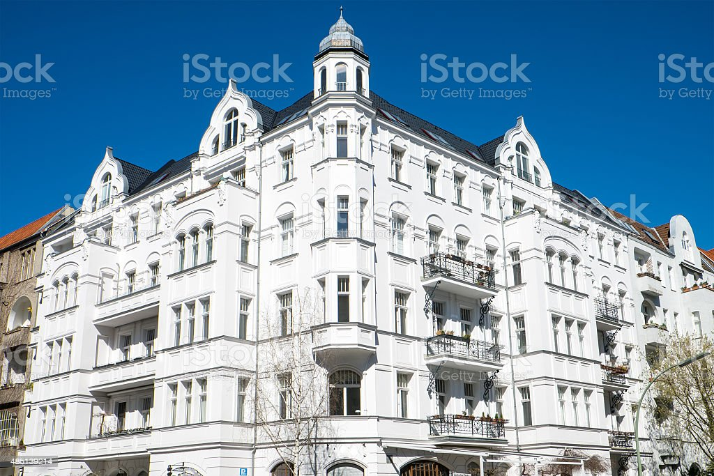 Old white house in Berlin stock photo