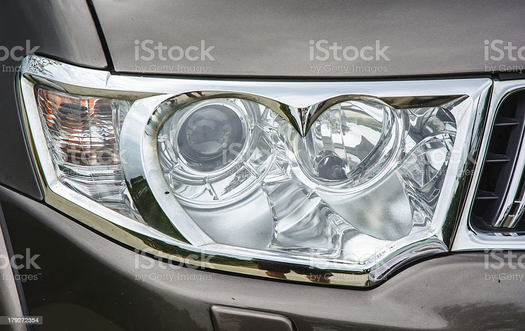 old white light of car stock photo