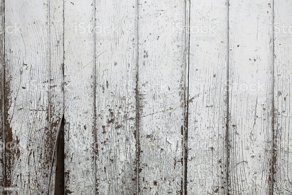 Old White Painted Wood XXXL royalty-free stock photo
