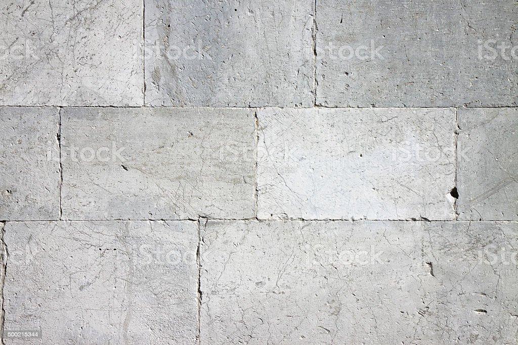 Old white stone wall background stock photo