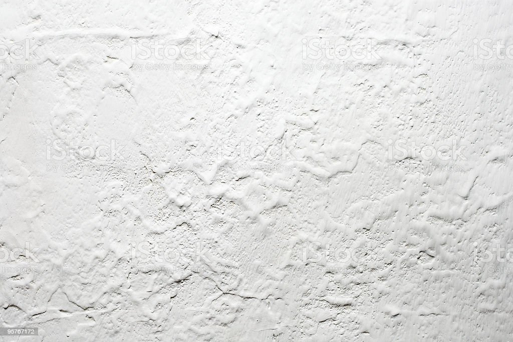 Old white swept wall royalty-free stock photo