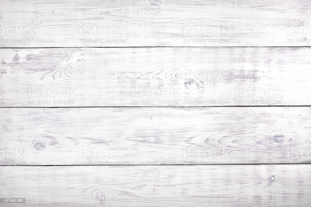 Old white table, wood background, wooden surface with copy space stock photo