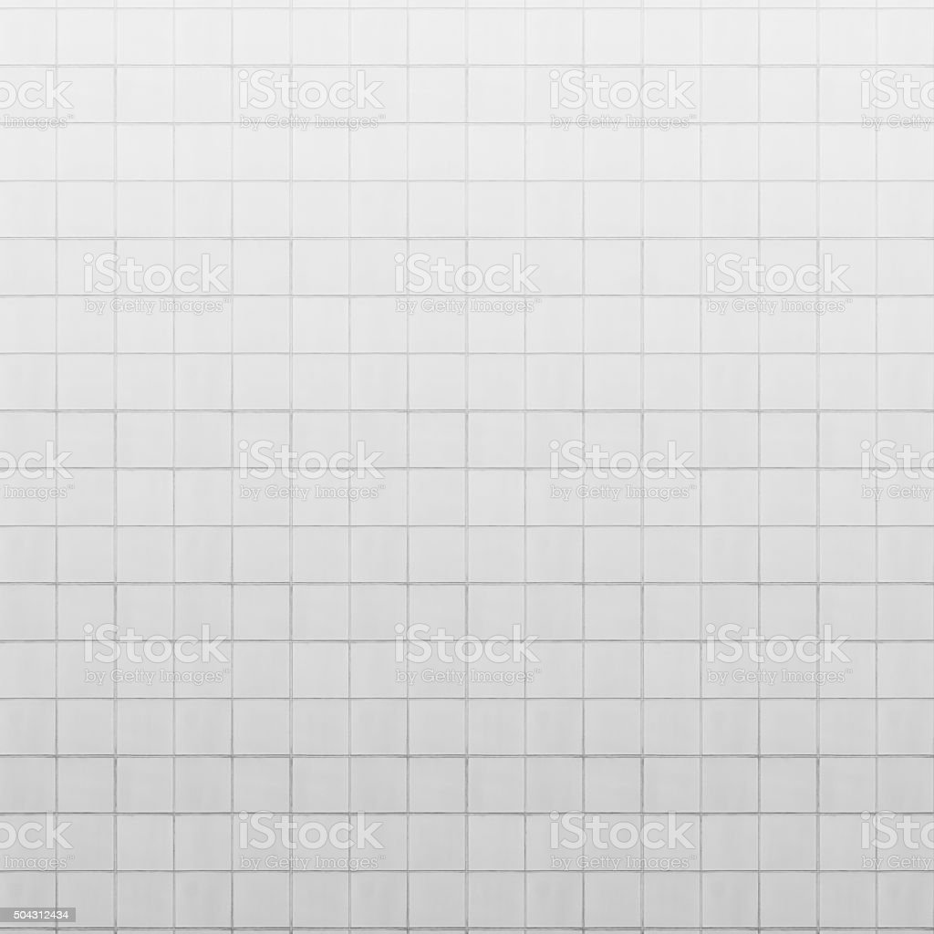 old white tiled wall background stock photo