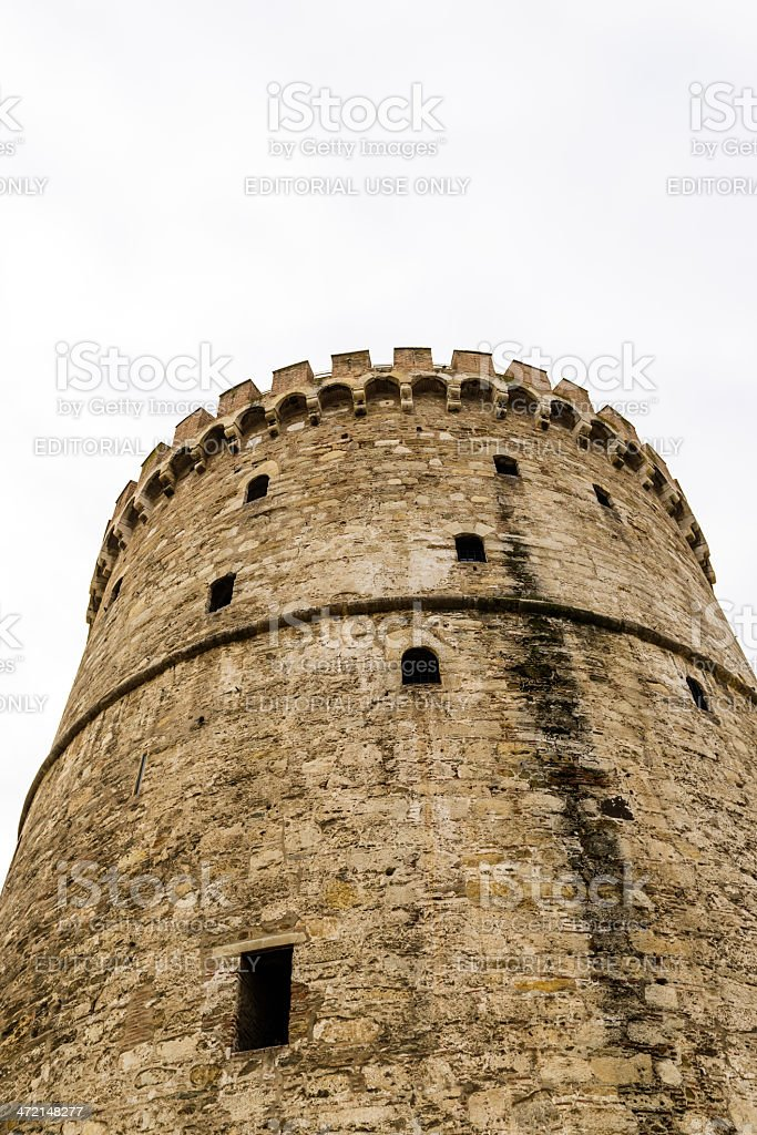 Old  White Tower in Salonica royalty-free stock photo