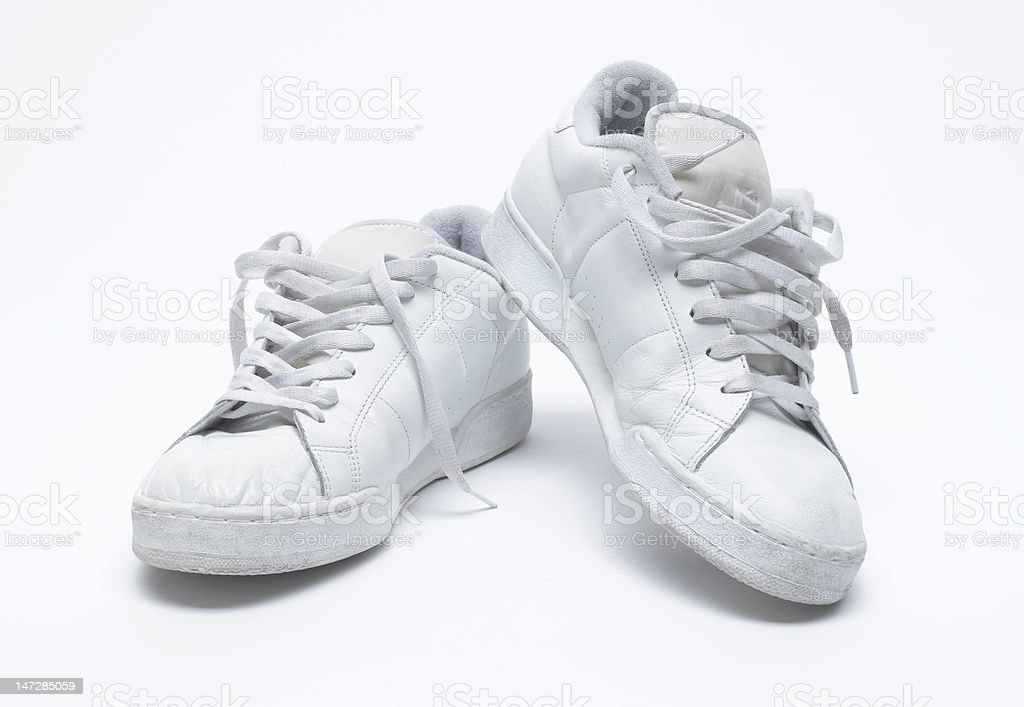 Old White Trainers stock photo