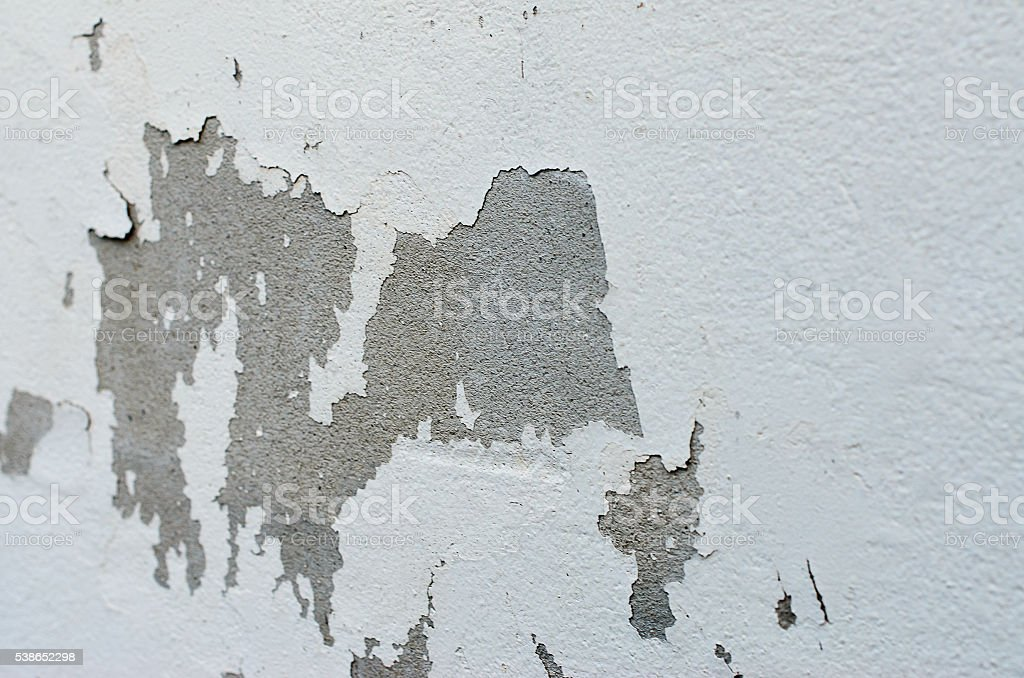old white wall with cracks stock photo