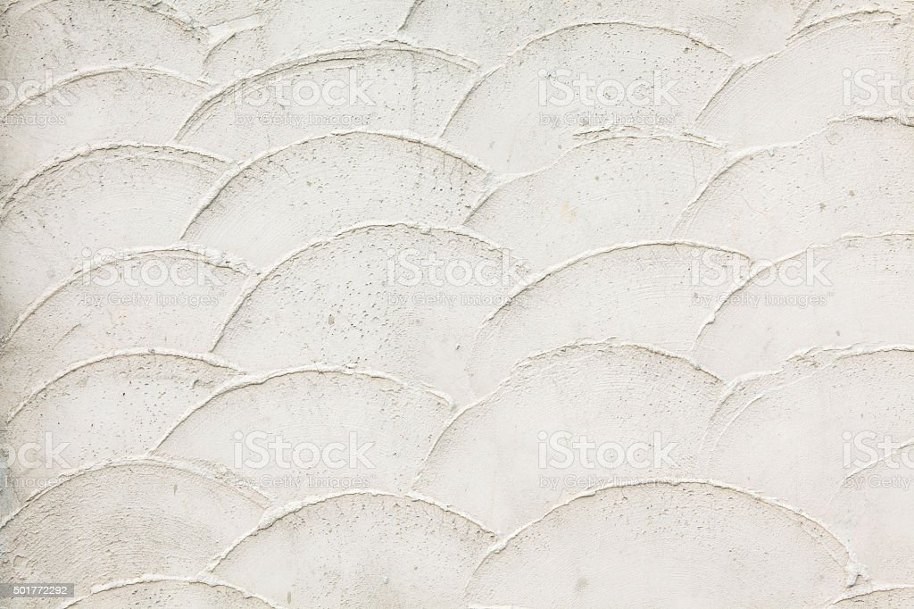 Old White wall with fish scales stock photo