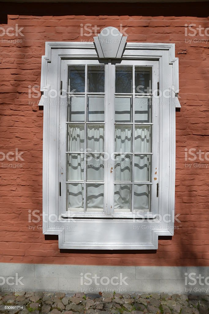 Old White Window stock photo